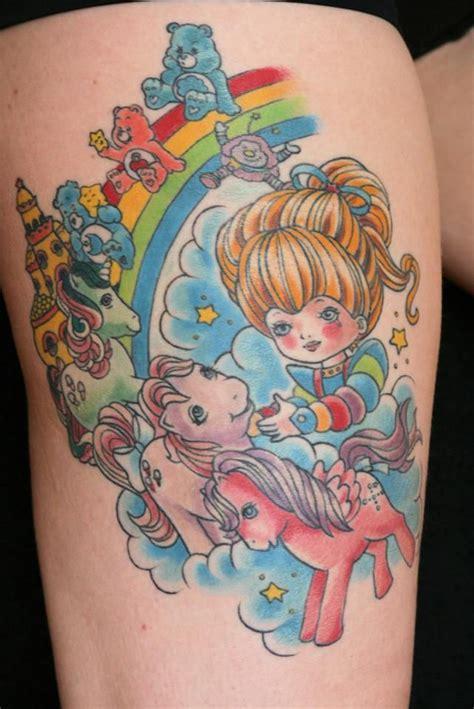 meet kim graziano tattoo artist rainbow brite my pony care bears 80s