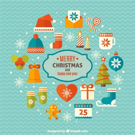 new year elements vector free merry and happy new year elements vector