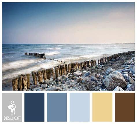 shingle brown sand grey slate blue pastel colour inspiration pallet paint