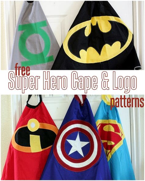 free superhero cape pattern vanilla joy