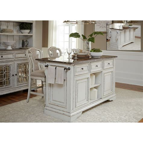 kitchen furniture island liberty furniture magnolia manor dining kitchen island and counter height stool set royal