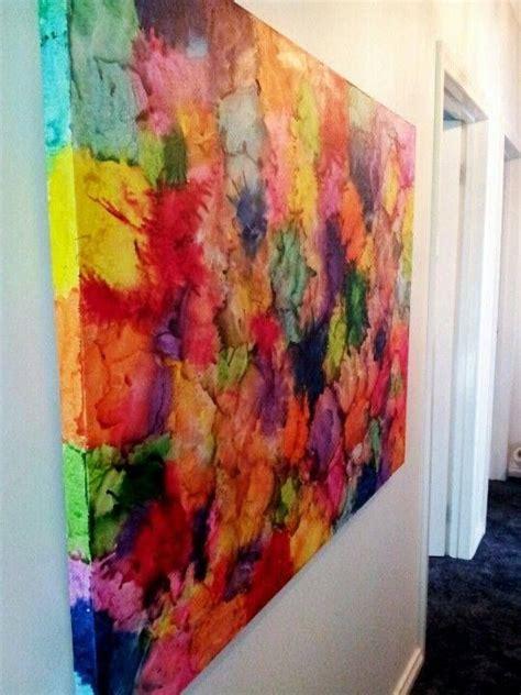 25 unique crayon canvas ideas on melted crayon art crayon canvas art and melting