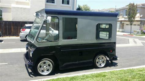 mail truck for sale studebaker zip van step van 1963 silver and blue for sale