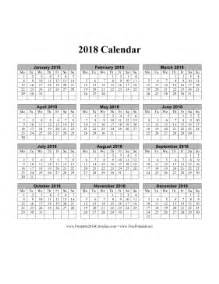 2018 Calendar One Page Calendars That Start With Monday Calendar