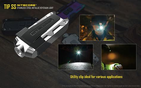 Senter Led Fox nitecore tip ss mini metallic keychain light worldwide fast free shipping