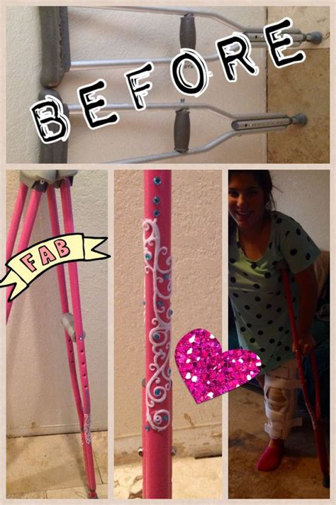 how to make crutches more comfortable crutches pink and diy and crafts on pinterest