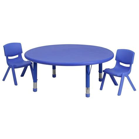 childrens plastic table and chairs bm 45 adjustable blue plastic activity table set