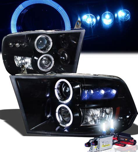 2013 ram led headlights hid xenon 09 16 dodge ram 1500 2500 eye halo