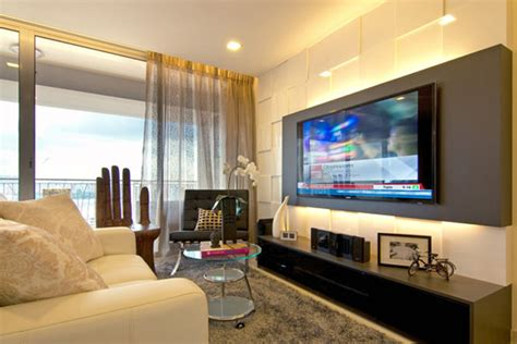 wohnzimmer designs ma maison brown interior family room with big screen tv