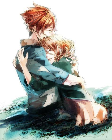 anime couple hugging pinterest the world s catalog of ideas