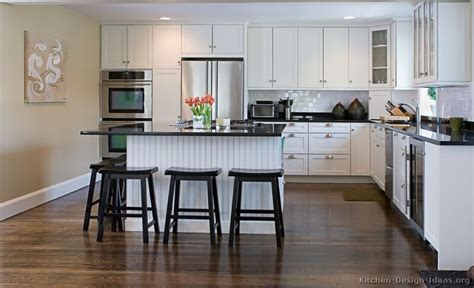 White Cabinet Kitchen Designs by Pictures Of Kitchens Traditional White Kitchen Cabinets