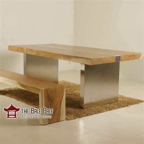 Meja Makan Kayu Jati Utuh meja makan minimalis kayu utuh mmj003 mebel jati minimalis mebel jati jepara mebel