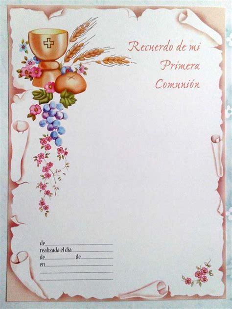 tarjetas de pergamino para primera comunion estitas de comuni 243 n x 25 unid