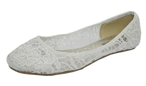 flat ivory lace wedding shoes womens ivory satin lace pumps wedding brides flat