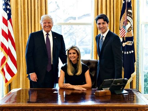 resolute desk trump left attacks ivanka trump for wh photo shoot with canadian