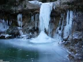 Frozen Waterfalls by Frozen Waterfall Wallpaper 25665 Open Walls