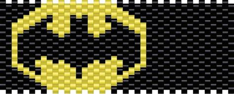 batman kandi pattern pony bead patterns pinterest