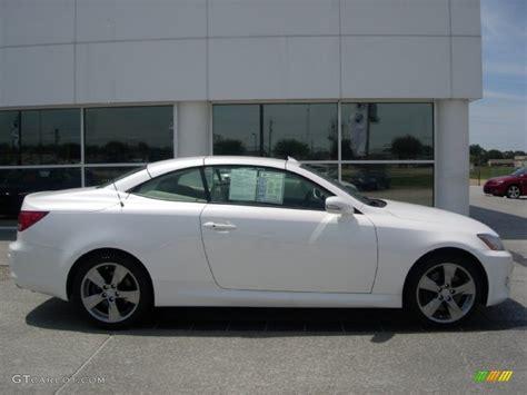 lexus 2010 white starfire white pearl 2010 lexus is 350c convertible