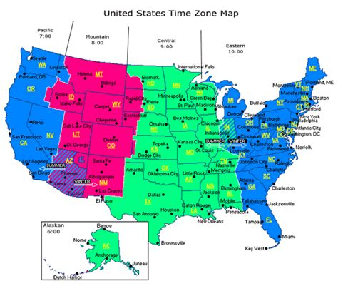 us timezone map telling time with shadow sticks a schoolyard investigation
