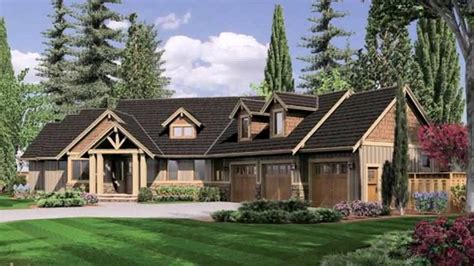 What Is A Rambler Style Home by Ranch Style House Plans Angled Garage Youtube