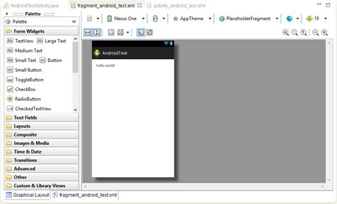 layout android app eclipse creating an exle android application techotopia