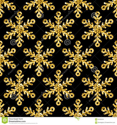 abstract snowflakes seamless pattern background royalty vector seamless holiday pattern with golden glitter