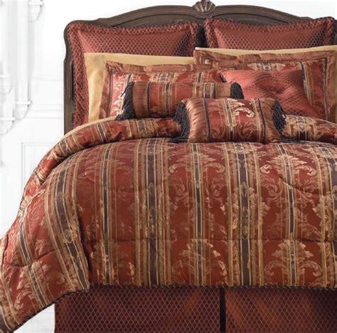 red and brown comforter sets blanket america laurelton 7 piece king comforter set red