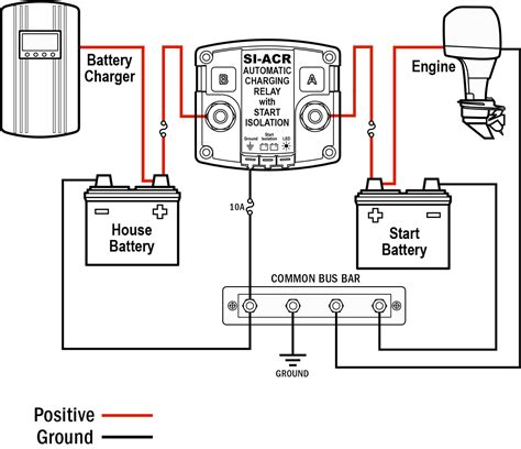 marine battery isolator wiring diagram marine wirning