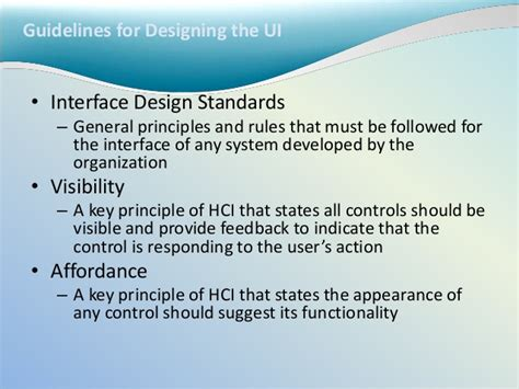 design guidelines in hci 7 designing the system