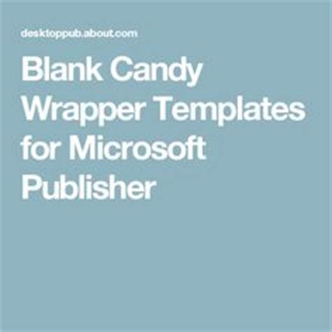 bar wrapper template publisher microsoft publisher bar wrappers and texts on