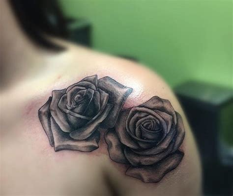 63 black and grey fantastic shoulder tattoos