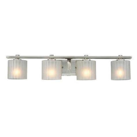 bathroom light bars brushed nickel hton bay sheldon 4 light brushed nickel bath bar light