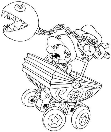 free coloring pages of mario party