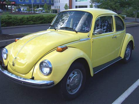 volkswagen bug yellow ragtopman 1975 volkswagen beetle specs photos