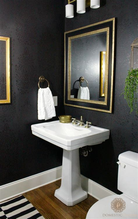 the powder room powder room reveal domestic charm