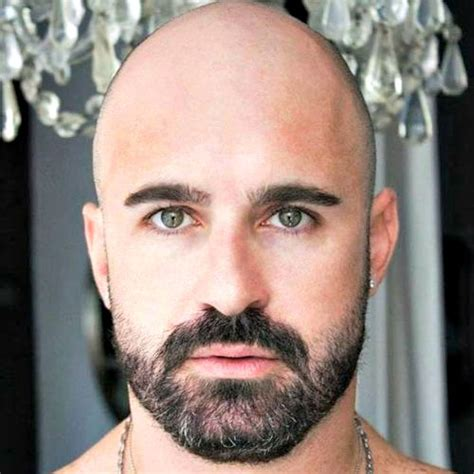 what beard style for bald men 17 bald men with beards
