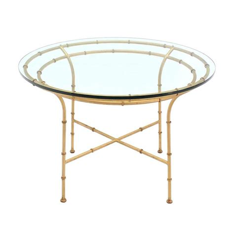 bamboo table l base faux bamboo x base dining table for sale at 1stdibs