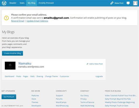membuat postingan wordpress cara membuat blog gratis wordpress 187 aksesoris template
