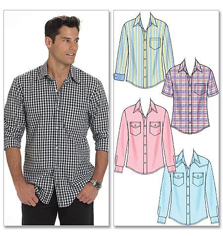 pattern man shirt free m6044 men s shirts mccall s butterick patterns sew