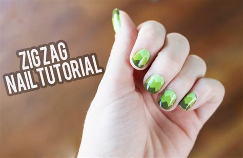 nails tutorial zig zag nail tutorial zig zags the dainty squid
