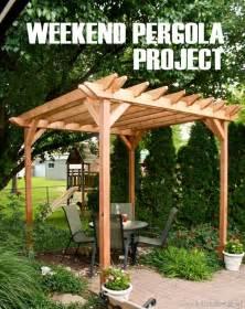 weekend diy pergola project pergolas