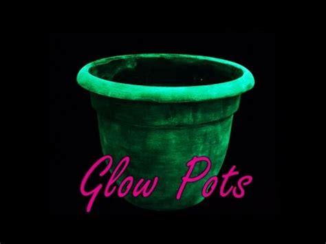 glow in the paint outdoor ideas diy glow in the planter pots