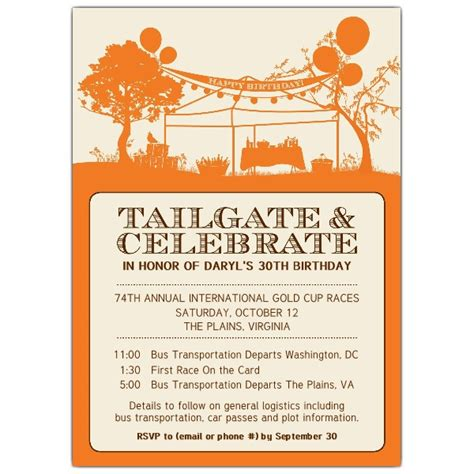 tailgate and celebrate birthday invitations paperstyle