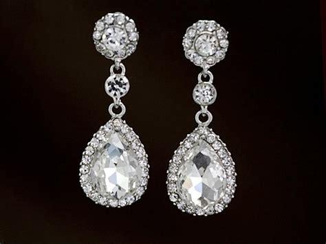 Rhinestone Teardrop Earrings sparkling teardrop earrings classic rhinestone dangle