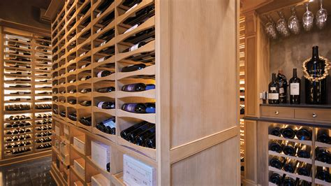 Interior Of Modern Homes wine cellar built in a pool house private cellars