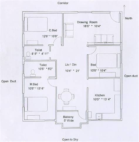 3 Bedroom Flat Floor Plan | click select to view the flat dimensions and pricing details