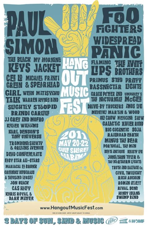 Hangout Music Festival Ticket Giveaway - win tickets to the 2011 hangout music festival stereogum