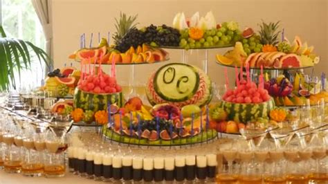 fruit table for wedding reception different fresh fruits on wedding buffet table fruits and