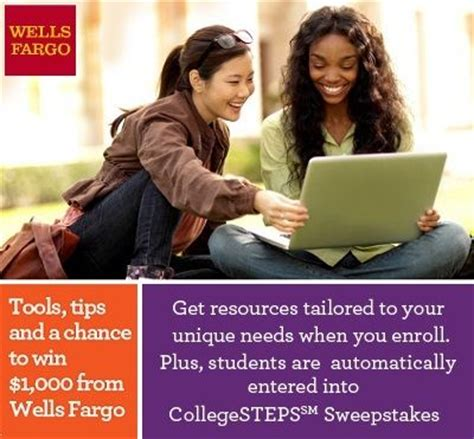Collegesteps Sweepstakes - wells fargo collegesteps scholarship program for high school and college students