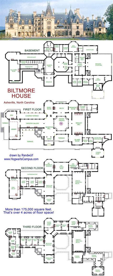Biltmore Floor Plan | biltmore house floor plan asheville north carolina